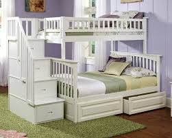 image of white bunk beds twin over twin stair amazing twin bunk bed