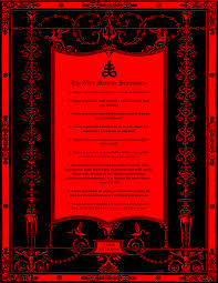 s com church of satan s nine satanic statements print by willian j butler