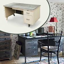 maine style hits office cottage style office mid century steel desk add wishlist middot baumhaus mobel
