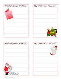 christmas wish list wordtemplates net christmas wish list template