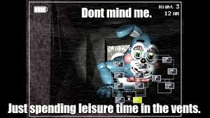 DeviantArt: More Like Dont mind me. FNAF meme #2 by bribridash413 via Relatably.com