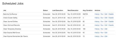 scheduled jobs atlassian documentation running a job manually