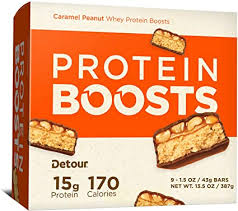 Detour Protein Boosts Bars, Caramel Peanut, 1.5 ... - Amazon.com