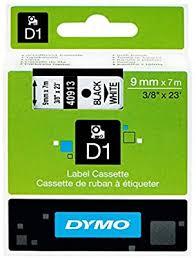 <b>DYMO S0720680 D1</b> Label Cassette Tape, 9mm x 7m, Black/White ...