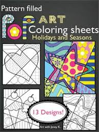Small Picture Pop Art Interactive Coloring Sheets for Spring Fun Engaging