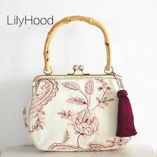 LilyHood <b>Vintage</b> Handbag <b>Female 2018</b> New China Floral ...