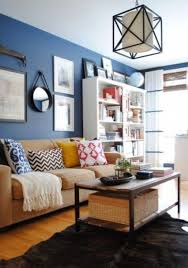 brown and beige furniture a bold blue accent wall for an eye catchy look beige furniture