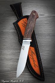 <b>Нож</b> Сокол 2 сталь М390 рукоять карельская береза коричневая