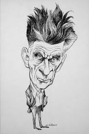 the theatre of the absurd waiting for godot analysis writework waiting for godot english caricature of samuel beckett nobel prize winner and author of the internationally acclaimed