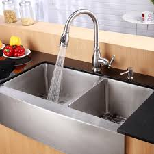 kraus 36 inch farmhouse double bowl stainless steel kitchen sink with noisedefend8482 soundproofing apron kitchen sink