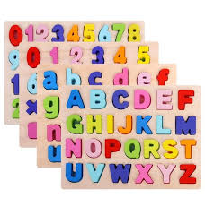 30CM 3D Colourful <b>ABC</b> 123 <b>Alphabets Letters</b> Numbers Wooden ...