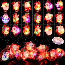<b>LEEHUR</b> Christmas <b>LED Light</b> Up Bracelet 18pcs Kids Party Favors ...