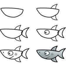 Pin by ASHA LATHA on DRAW N PAINT | Easy drawings, Shark ...