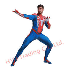 Online Shop New <b>ps4 insomniac spiderman costume</b> Spandex ...