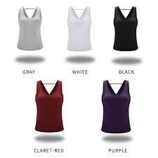 <b>Zhangyunuo</b> Backless Fitness Solid Yoga Sleeveless <b>Gym Crop</b> ...