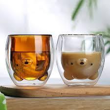250ML <b>Creative Cartoon</b> Bear Coffee Mug <b>Cute</b> Animal Double ...