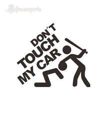 1 шт., не прикасайтесь к моему автомобилю, белая <b>наклейка</b> ...