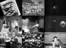 Image result for images of superman coming to earth in 1948 serial superman