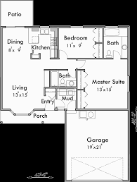 Small House Plans  Bedroom House Plans  One Story House PlansMain Floor Plan for Small house plans  bedroom house plans  one story