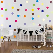 120pcs <b>Colorful Polka Dot</b> Vinyl Stickers Removable Circle Round ...