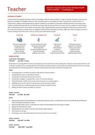 teaching cv template  job description  teachers at school  cv    teaching cv template
