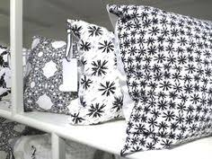 new cococozy light decor pillows in black white on display black white home office cococozy 5