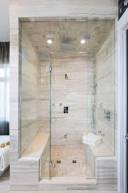 spa bathroom showers: double bench master steam shower atmosphere id