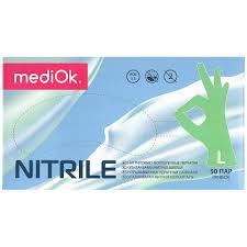 <b>MediOk Перчатки нитриловые неопудренные</b> зеленые, размер ...