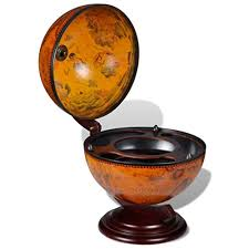 Anself <b>Tabletop Bar Globe</b> Embowed Stand - Buy Online in Georgia ...