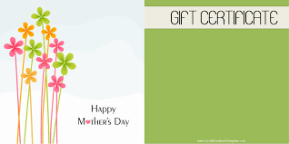 mother s day gift certificate templates printable mothers day gift certificate customize