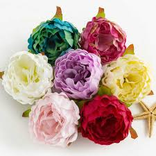 5pcs/lot 10cm <b>High</b> Quality <b>Peony</b> Flower Head Silk Artificial Flower ...