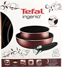<b>Набор посуды TEFAL</b> Ingenio 3 пр: ковш 20см/вок26см + ручка ...