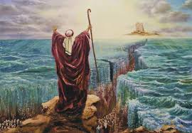 Image result for pictures of moses at red sea