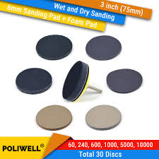 <b>3 Inch 75mm Assorted</b> Grits Silicon Carbide Hook&Loop Sanding ...