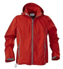 <b>Куртка софтшелл мужская SKYRUNNING</b>, красная с логотипом ...