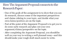 weekintroduction to the research paper projectreflection  how the argument proposal connects to the research paper one of the goals of the