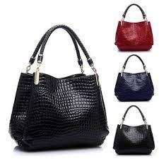 <b>Fashion</b> Women <b>Crocodile Pattern</b> Leather <b>Shoulder</b> Bag Female ...