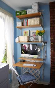 think vertical for a space saving home office apartment home office