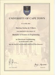 cvmdevill bsc eng elec first class honours university of cape town 10 1998