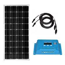 <b>Kit Panneau Solaire</b> 12v 100w <b>Solar</b> Charge Controller 12v/24v 10A ...