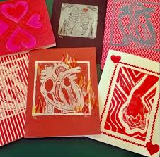 Relief <b>Printing</b>: <b>Valentine's Day</b> Edition - 2 Part Class — The Chattery