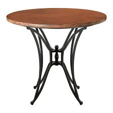 40 inch round pedestal dining table: simple bistro design with round wooden bar tables  inches counter height concrete tabletops