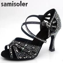 <b>Women</b> Rhinestone Ballroom <b>Dance Shoes</b> Latin Salsa Promotion ...