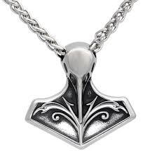 Men <b>stainless steel</b> Norse <b>viking</b> thor's <b>hammer</b> raven amulet ...
