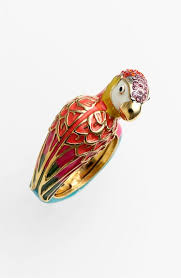 <b>Juicy Couture</b> 'Palm Beach Poolside' Parrot <b>Ring</b>