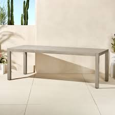 Matera Large <b>Outdoor Grey Dining Table</b> + Reviews | CB2