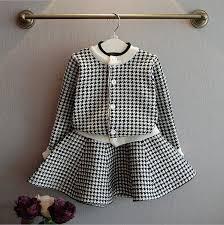 2019 Autumn New <b>Girls 2 Pcs</b> Skirt Suits Baby Plaid Knit Sets
