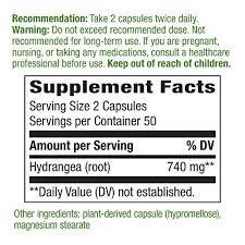 Nature's Way Premium Herbal <b>Hydrangea Root</b>, <b>740</b> mg per serving ...