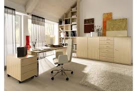awesome hime office interior design style with gray curtain in wide glass window front elegant office awesome glass corner office desk glass