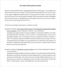 MLA Annotated Bibliography Template         Free Word  PDF Documents